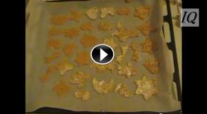 Biscottini di Natale con cannella zenzero e sesamo