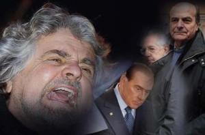 Elezioni 2013, Grillo contro tutti