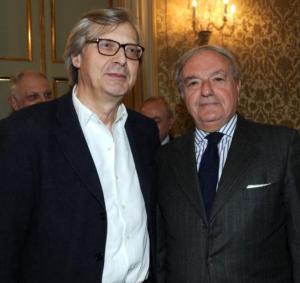 Colombo Clerici con Vittorio Sgarbi