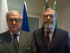 Achille Colombo Clerici con l'A.D. di Assoedilizia Alessandro Panza di Biumo