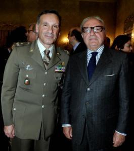 Il Presidente Assoedilizia Achille Colombo Clerici con il gen. Antonio Pennino