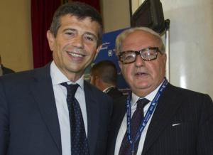 Achille Colombo Clerici con il Ministro Maurizio Lupi a Cernobbio, Ambrosetti Forum 2014
