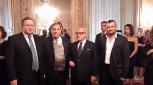 da sin.Console Russo Alexander Nurizade, Roi Alessandrello, Achille Colombo Clerici