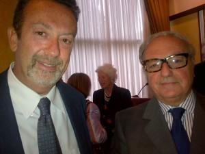 Achille Colombo Clerici con il Console Generale d'Italia a Lugano Ministro Marcello Fondi