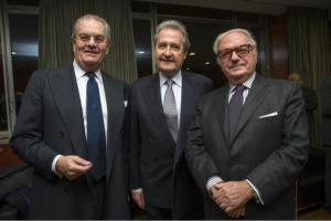 da sin. Cesare Castelbarco Albani, Angelo Provasoli, Achille Colombo Clerici