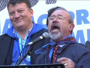 Partendo da destra il Segretario Generale Uil Carmelo Barbagallo ed il Segretario Organizzativo della Uil Pierpaolo Bombardieri