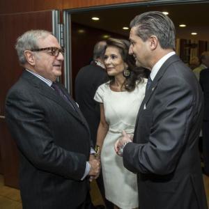 Achille Colombo Clerici pres. IEA con Patrizia Signorini e Massimo Baggi console Generale di Svizzera a Milano