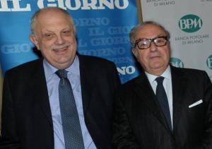 Il presidente di Amici di Milano e di Assoedilizia Achille Colombo Clerici con il Direttore Giancarlo Mazzuca