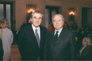 Achille Colombo Clerici con il vice presidente della'Associazione Amici di Milano Ippolito Calvi di Bergolo