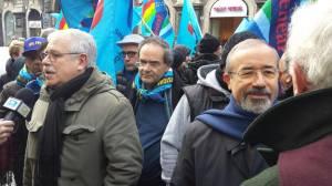 Partendo da destra il Segretario Generale della Uil  Carmelo Barbagallo ed il Segretario Generale della Uil Fpl Giovanni Torluccio