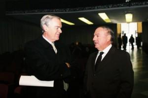 Umberto Bertele' con il presidente di IEA Achille Colombo Clerici