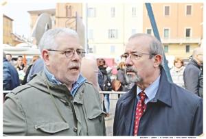 Da Destra: Il Segretario Generale Confederale UIL Carmelo Barbagallo ed il Segretario Generale UIL FPL Giovanni Torluccio