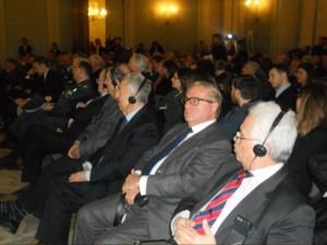 a dx Lino Duilio, Achille Colombo Clerici, Alfio Noto, Rosario Alessandrello, Alessandro Profumo