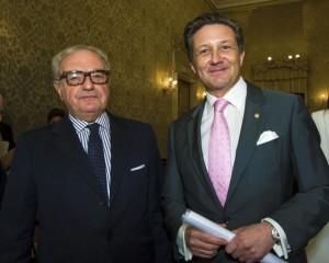 Achille Colombo Clerici presidente IEA con il Console Generale di Svizzera Massimo Baggi