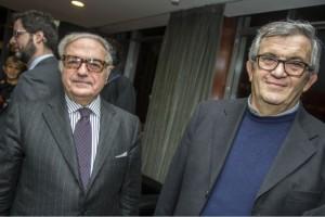 Achille Colombo Clerici con don Virginio Volmegna