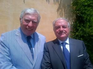Achille Colombo Clerici con Manfredi Landi di Chiavenna pres. Asages