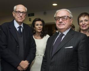Il Prefetto di Milano Francesco Paolo Tronca ed il presidente ISTEURASIA Achille Colombo Clerici con Patrizia Signorini e Claudia Beccellati