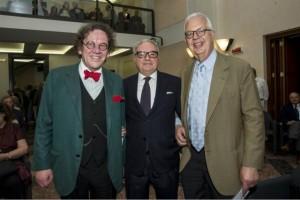 dx Giuseppe Cavajoni Achille Colombo Clerici e Philippe Daverio