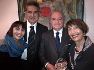 Il pres. di IEA IstEurasia Achille Colombo Clerici con Pierluigi Mantini, Fania Cavaliere Mantini e Adriana Cavaliere