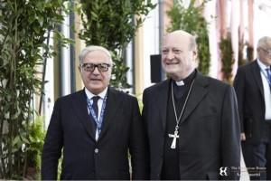 Il Card. Gianfranco Ravasi con il presidente di Assoedilizia Achille Colombo Clerici