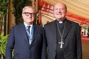 Achille Colombo Clerici IEA con il cardinale Gianfranco Ravasi