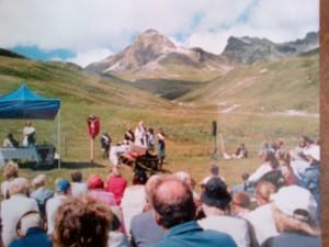 La S. Messa di ferragosto al Marguns celebrata daa Don Peppino