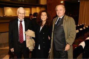 Il presidente di Europasia Achille Colombo Clerici con Valerio Onida e Marilisa d'Amico
