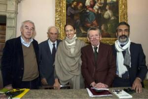 da sin. Giulio Giorello, Giuseppe e Margherita Barbiano di Belgiojoso, Sergio Romano, Giorgio Metta