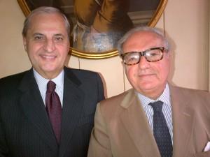 Il presidente di Europasia Achille Colombo Clerici con Giampio Bracchi presidente della Fondazione Politecnico