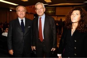 Marilisa d'Amico con Luciamo Violante e Achille Colombo Clerici presidente di IEA