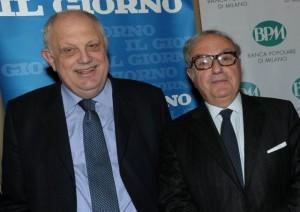 Achille Colombo Clerici con il Direttore del Il Giorno Giancarlo Mazzuca