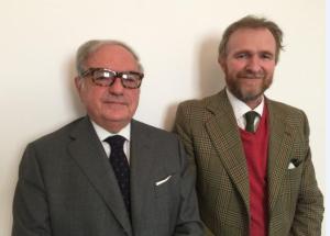 Foto: Alessandro Barbiano di Belgiojoso con Achille Colombo Clerici presidente di Assoedilizia e di IEA