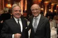 Foto archivio: Il presidente di IEA Achille Colombo Clerici con Francesco Saverio Borrelli gia' presidente del Conservatorio