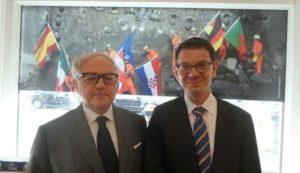 Foto: Colombo Clerici con il Console Generale di Svizzera felix Baumann