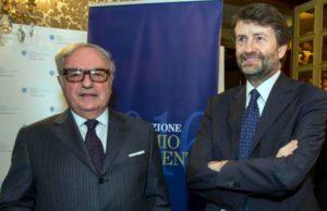 Foto; Il presidente dell'Istituto Europa Asia IEA. Achille Colombo Clerici con il Ministri per i Beni Culturali Dario Franceschini
