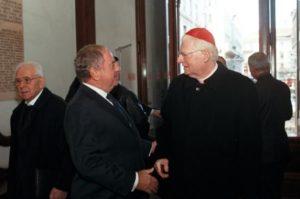 Foto: Il presidente IEA Achille Colombo Clerici con Romano Prodi e Angelo Scola