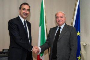 Foto:  - Il Sindaco di Milano Giuseppe Sala con Achille Colombo Clerici