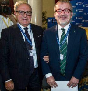 Il Presidente Assoedilizia Clerici con il Presidente della Giunta Regionale Lombardia Maroni