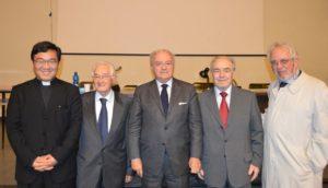 Foto: Il presidente IEA Achille Colombo Clerici  Con da sin. Don Zhang, Gilberto Perego, Ambrogio Colombo, Gianpiero Cassio.
