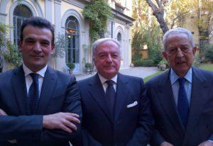 oto: da sin. Giuseppe Sopranzetti, Achille Colombo Clerici, Alfio Noto