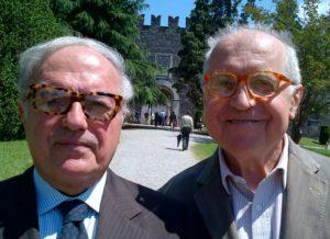 Foto: Alberico Barbiano di Belgiojoso con il presidente di Assoedilizia Achille Colombo Clerici