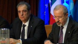 Foto- Da Destra il Segretario Generale UIL Carmelo Barbagallo ed il Neo Segretario Generale della UIL FPL Michelangelo Librandi