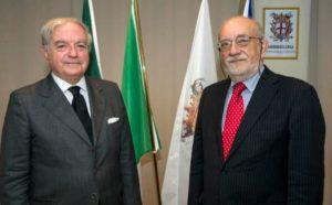 Foto: Benito Sicchiero con il presidente di Assoedilizia Achille Colombo Clerici