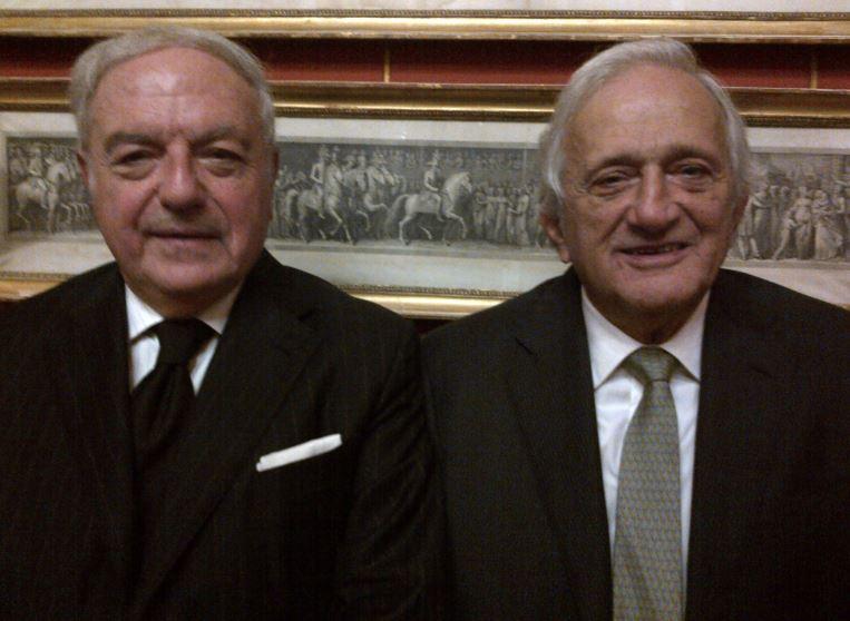 Foto: Francesco Brioschi con il presidente di Assoedilizia Achille Colombo Clerici