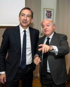 Il Presidente Assoedilizia Clerici con il Sindaco Giuseppe Sala