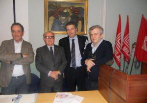 Foto archivio: - Franco Mirabelli e Onorio Rosati con Achille Colombo Clerici e don Virginio Colmegna
