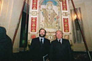 Foto archivio: Umberto Ambrosoli con il pre. IEA Achille Colombo Clerici