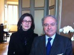 Il Presidente Assoedilizia Clerici con Maria Stella Gelmini