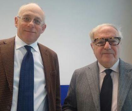 Foto: l' Assessore Mauro Parolini con il pres. di Assoedilizia Achille Colombo Clerici